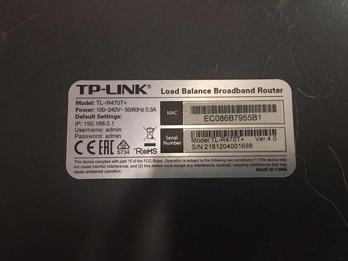 balanceador de carga tp link tl-r470t+