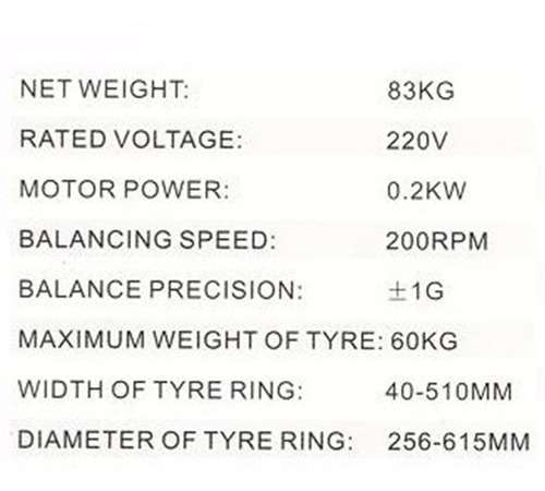 balanceadora de neumáticos 220v computarizada g p