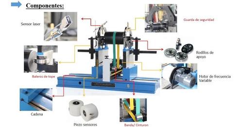 balanceadora dinamica 1 ton de rotores, rodillos, impulsores