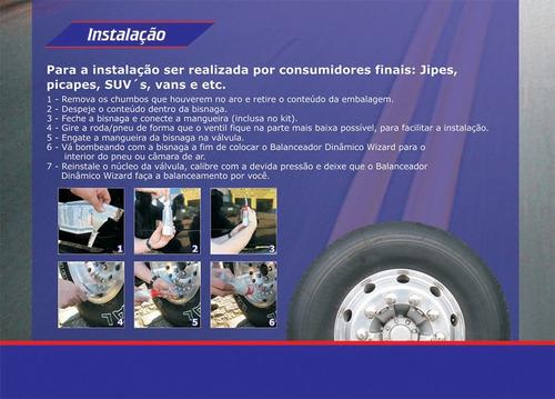 balanceamento dinâmico pneu sem chumbo aro 15 16 perfil baix