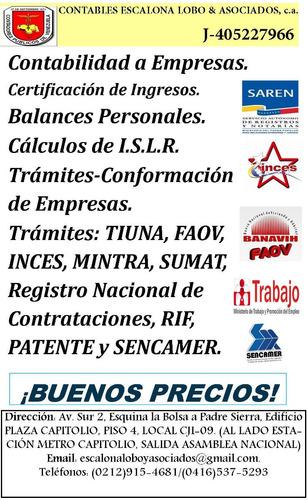 balances, certificaciones, constitución de empresas, snc