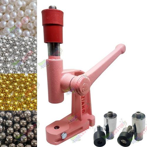 balancim maquina pressão rosa pregar + 800 perola + matrizes