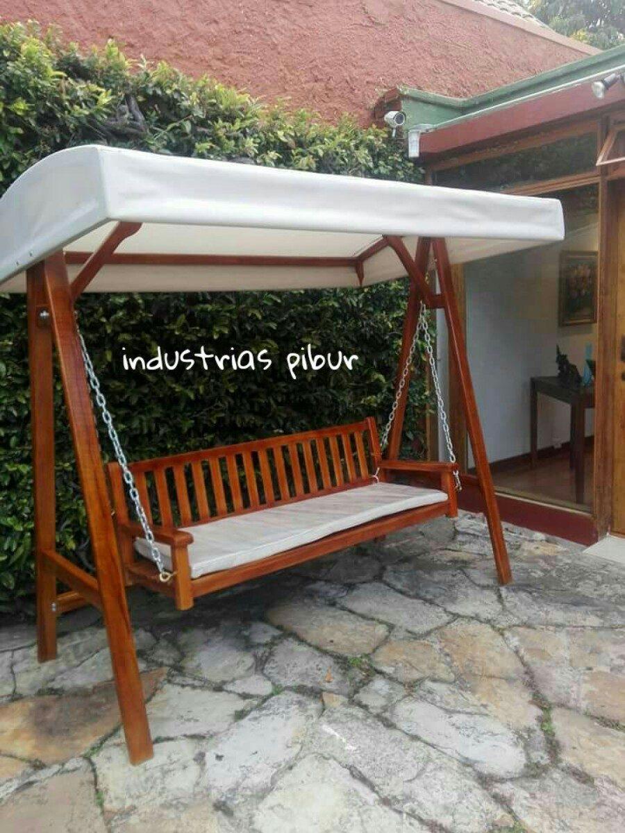 Balancin columpio de lujo para jardin en madera teca 3 for Bordillos de plastico para jardin