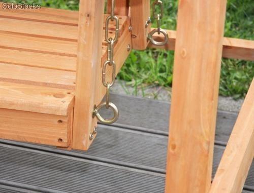 Balancin columpio de lujo para jardin en madera teca 3 - Columpio de madera para jardin ...