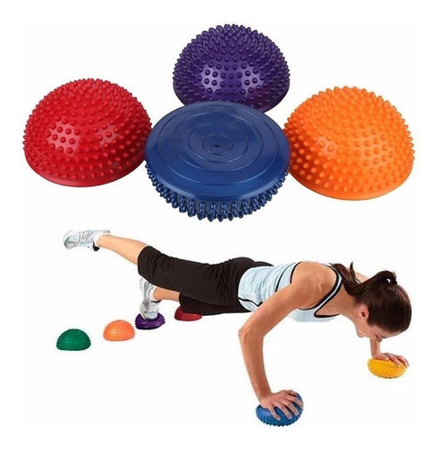 balancín mini bosu 14cm gimnasio, fitness, yoga, equilibrio