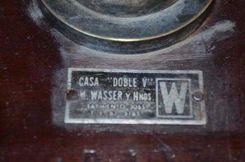 balanza antigua  de precision wasser y hnos mas pesas