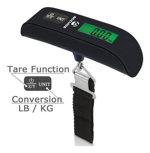 balanza bascula  maleta digital 110lbs equipaje lb/kg lujo