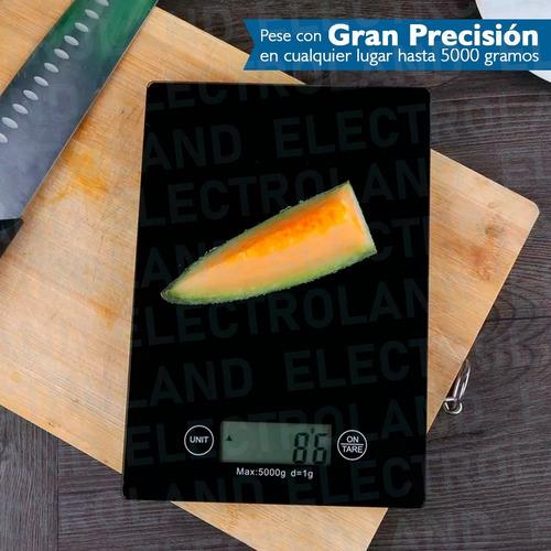 balanza cocina vidrio templado  precision 1gr a 5kg digital