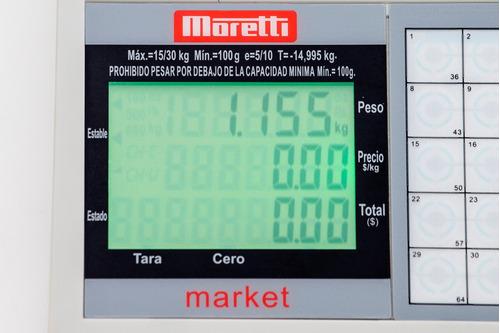 balanza comercial de mostrador moretti market