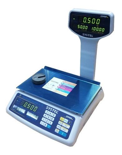 balanza comercial systel croma 30 kg bateria envio gratis