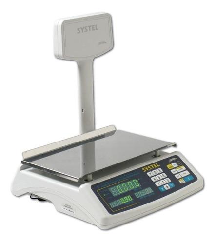balanza comercial systel croma 31 kg - aj hogar