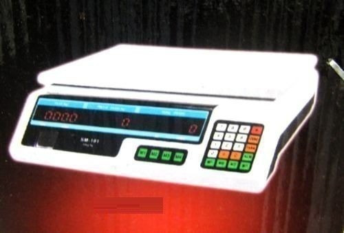 balanza de 40kg controladora 8 memorias recargable silver