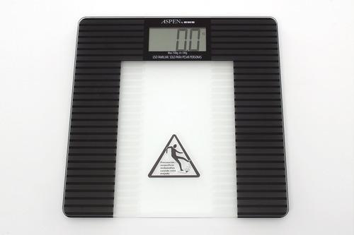 balanza de baño digital de vidrio aspen 9522 ultra delgada