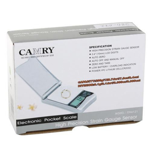 balanza de bolsillo electrónica gramera camry 200 gramos