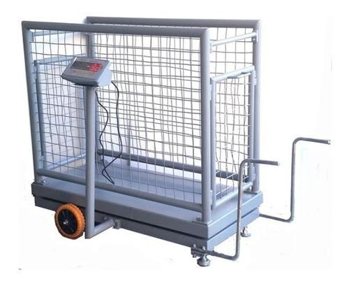 balanza de carro electronica para cerdos hasta 500kgs