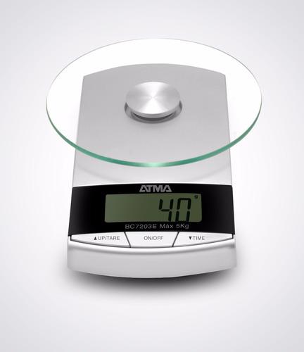 balanza de cocina 3kg bowl de vidrio templado atma bc7203n