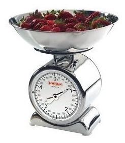 balanza de cocina acero inoxidable soehnle análoga 5kg
