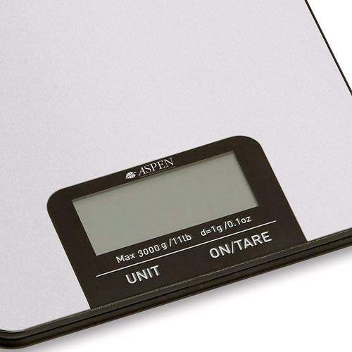 balanza de cocina aspen eks8039 digital hasta 3 kg portatil