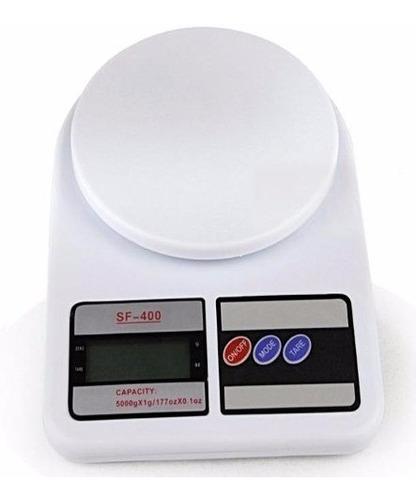 balanza de cocina digital 10 kg precisión 1 gr blanca