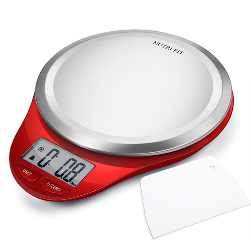 balanza de cocina digital con raspador de masa, nutri aju