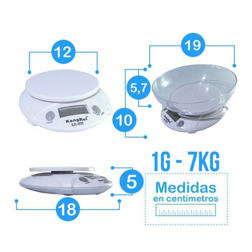 balanza de cocina digital de 1 gr hasta 7 kg