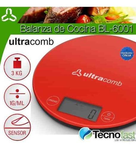 balanza de cocina digital ultracomb bl6001 3 kilos tecnofast