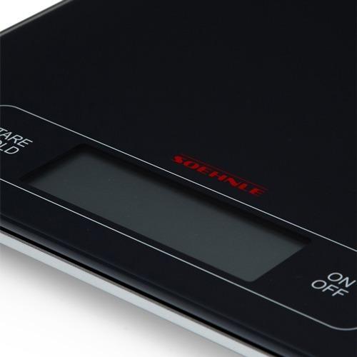 balanza de cocina vidrio digital soehnle 15kg profesional