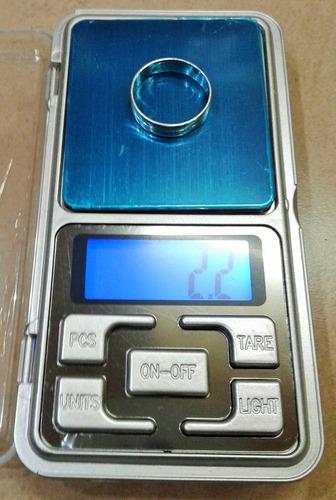 balanza de precisión digital de 0,1 a 500 gramos lcd luz