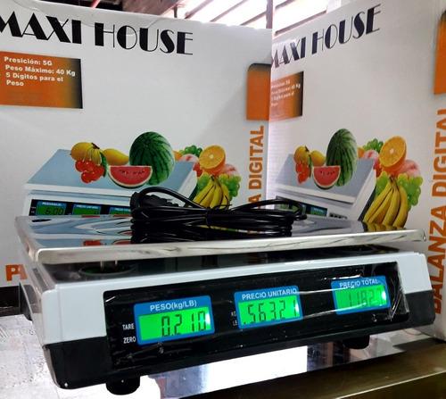 balanza digital 40kg peso electronico 40kilos doble pantalla