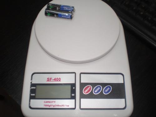 balanza digital cocina 1 g a 7 kg