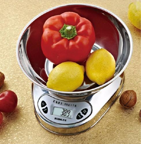 balanza digital cocina acero inox bowl 5kg  73621 / fernapet