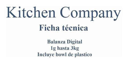 balanza digital cocina kitchen company ec301r