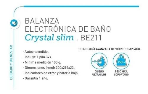 balanza digital con diseño cristal ultra slim silfab be211