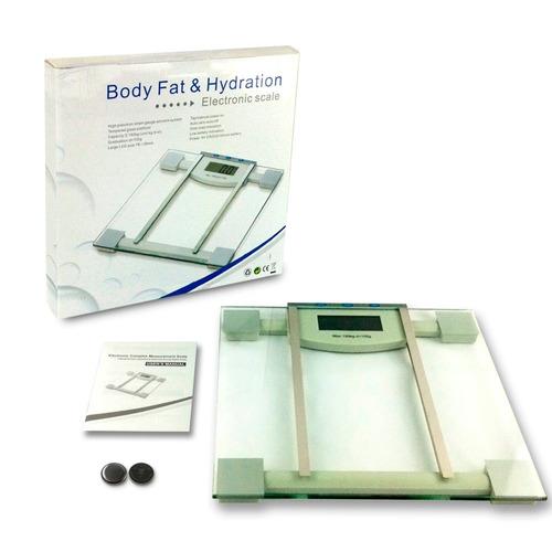 balanza digital con medidor agua y grasa corporal 10 memoria
