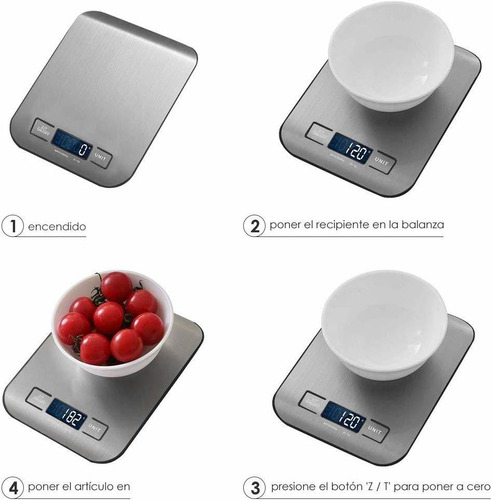 balanza digital de alimentos capacidad de 5 kg/11 lbs