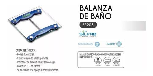 balanza digital de baño silfab (be203) nueva garantía