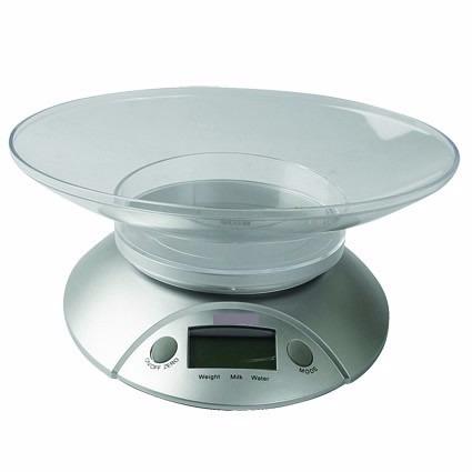 Balanza digital de cocina con plato 5 kg obsequio baterias - Balanza cocina digital ...