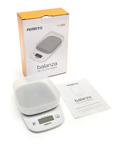 balanza digital de cocina electronica 3 kilos pesa con bowl