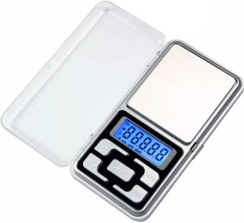 balanza digital de precision 500g / 0.1g lcd c/ luz portable