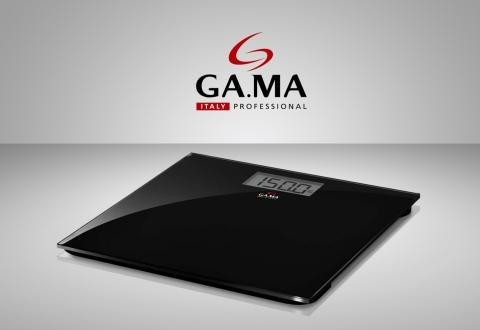 balanza digital gama vidrio templado de baño negra scg430