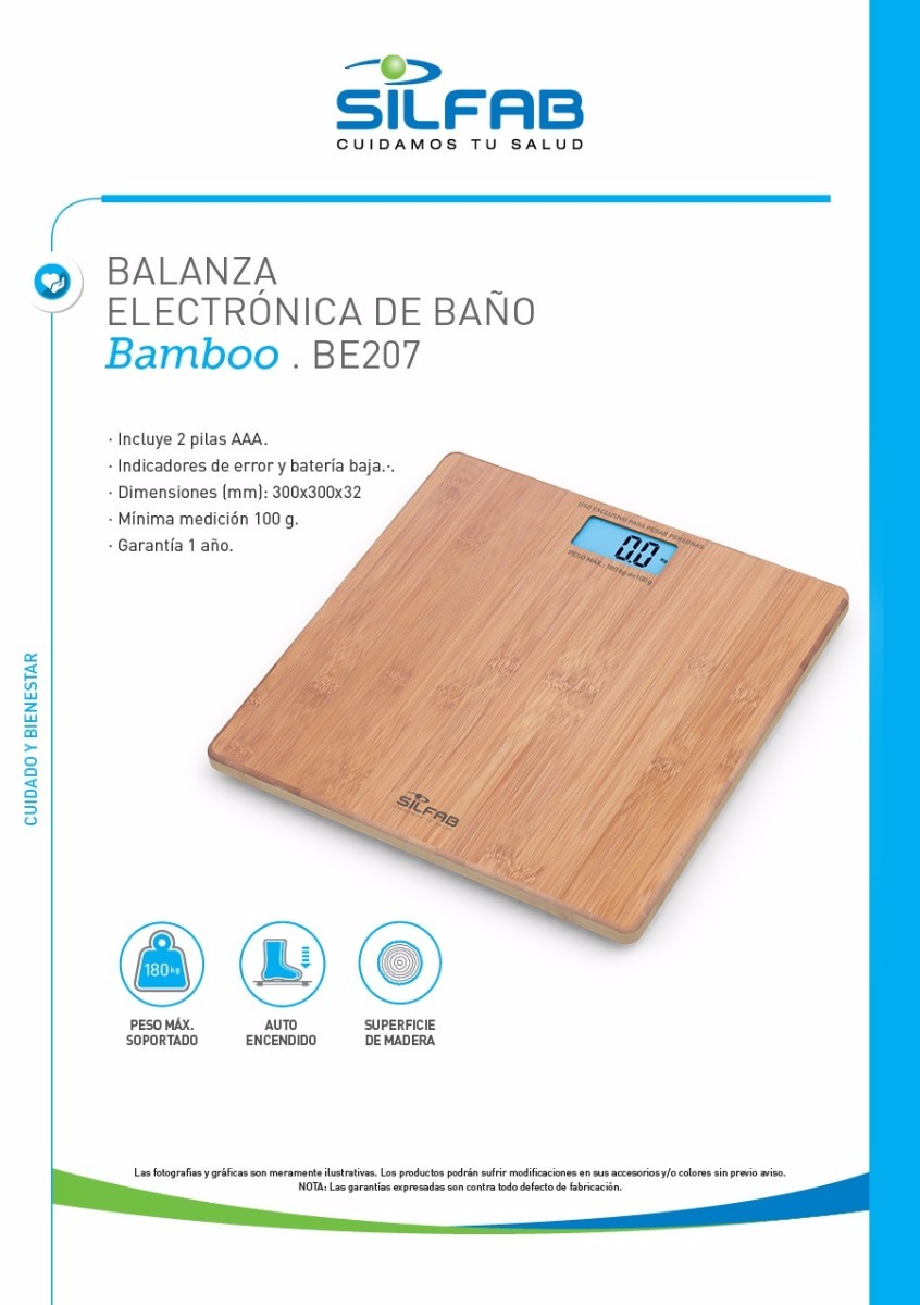 Balanza Digital Para Ba O Silfab Bamboo Be 207 820 00 En  # Muebles Rex Hurlingham