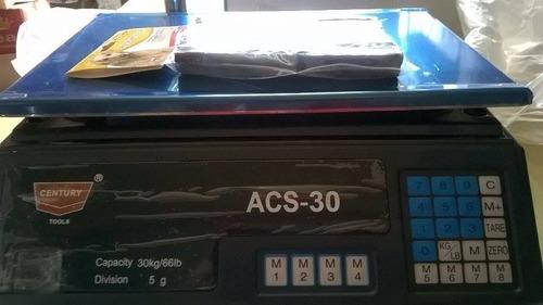 balanza digital para mostrador 30kg o 66lb century doble vis