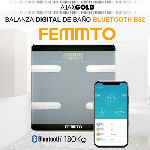 balanza digital personal inteligente fitness bluetooth baño