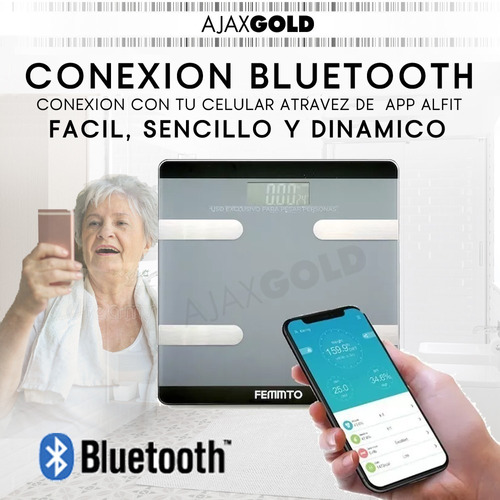 balanza digital personal inteligente fitness bluetooth baño