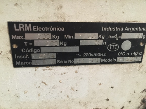 balanza digital plataforma marca lrm 200kg