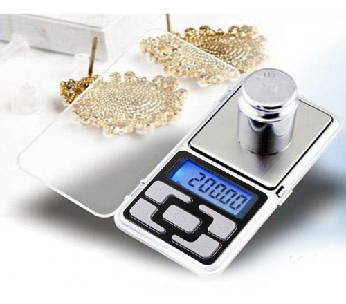 balanza digital precision de 0.1 a 500 gramera joyero tara