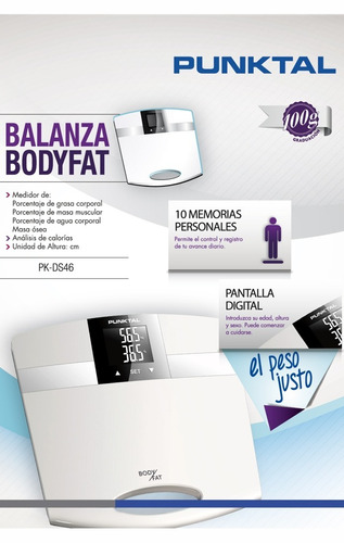 balanza digital punktal calorías masa muscular agua y grasa