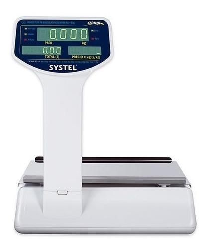 balanza digital systel croma 30 kg bateria puerto impresor