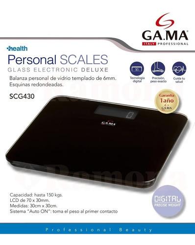 balanza digital vidrio negro gama scg430 deluxe