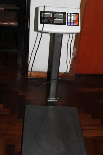 balanza electronica 300 kg valtox doble pantalla-casi nueva